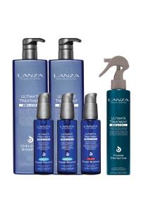 Набір для лікування волосся Lanza Ultimate Treatment (sh,1000мл+mask,1000мл+cond,250мл+boost,100мл+boost,100мл+boost,100мл)