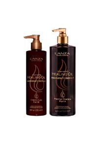 Набір для відновлення волосся Lanza Keratin Healing Oil Emergency Service Backbar Kit (term,ther,500 мл + hair,cr,300 мл)