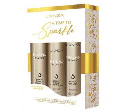 Набор Lanza Healing Blonde Holiday Trio Box 2020 (sh/300ml + cond/250ml + h/cr/150ml)