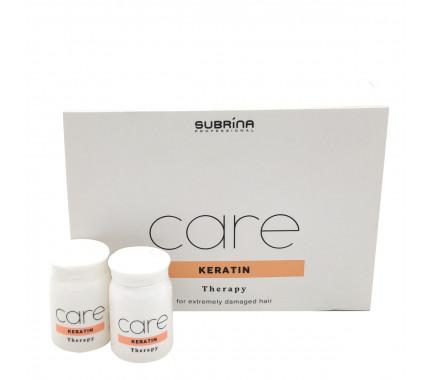 Краплі для зміцнення і захисту волосся Subrina Professional KERATIN THERAPY, 6 * 10 мл