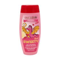 Subrina Kids Sweety 3 в 1 – гель для душа и шампунь-кондиционер, 250 мл