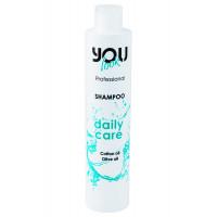 Шампунь для ежедневного ухода с хлопковым и оливковым маслом You Look Professional Daily Oil Shampoo 250 мл., 1000 мл.