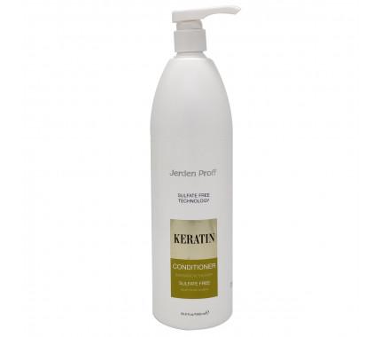 Кондиціонер для волосся безсульфатний з кератином Jerden Proff Sulfate Free Conditioner, 300 мл., 1000 мл
