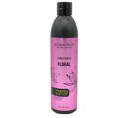 Кондиціонер для волосся з екстрактами малини, жасмину і лотоса Jerden Proff Floral Conditioner, 300 мл., 1000 мл