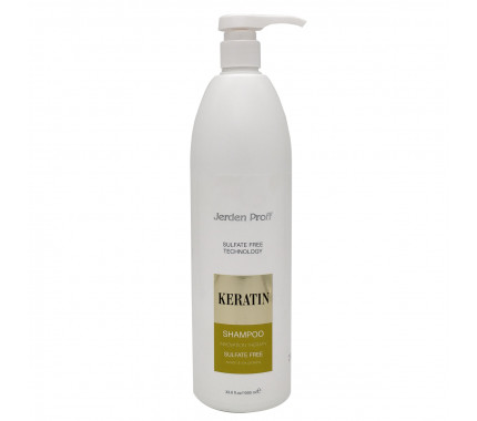 Шампунь для волос бессульфатный с кератином Jerden Proff Sulfate Free Shampoo 300 мл., 1000 мл