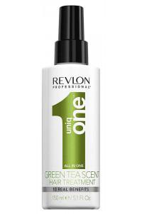 Спрей-маска для ухода за волосами с ароматом зеленого чая Revlon Professional Uniq One Green Tea Scent Treatment, 150 мл