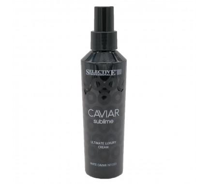 Крем-флюид несмываемый глубокой реконструкции для всех типов волос Selective Professional Caviar Sublime Ultimate Luxury Leave In Cream, 150 мл