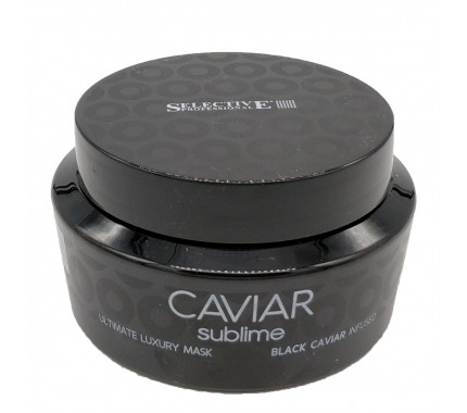 Маска для глубокого питания и смягчения ослабленных волос Selective Professional Caviar Sublime Ultimate Luxury Mask, 250 мл