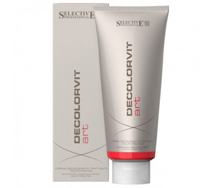 Обесцвечивающий крем для волос до 7 тонов Selective Professional Decolorvit Art Hair Cream, 500 г