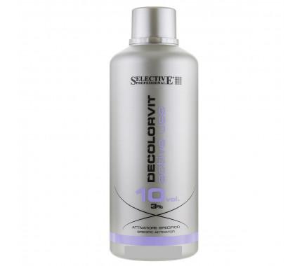 Окислювач для фарбування волосся 3, 6, 9, 12% Selective Professional Decolorvit Active Use 10, 20, 30, 40 Volumi, 750 мл