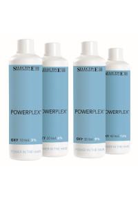 Окислитель для окрашивания волос 3, 6, 9, 12% Selective Professional Powerplex Oxy 10, 20, 30, 40 Volumi, 1000 мл