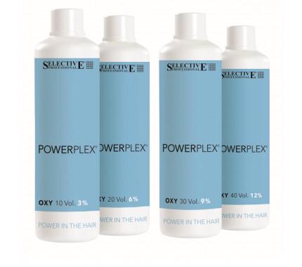 Окислювач для фарбування волосся 3, 6, 9, 12% Selective Professional Powerplex Oxy 10, 20, 30, 40 Volumi, 1000 мл