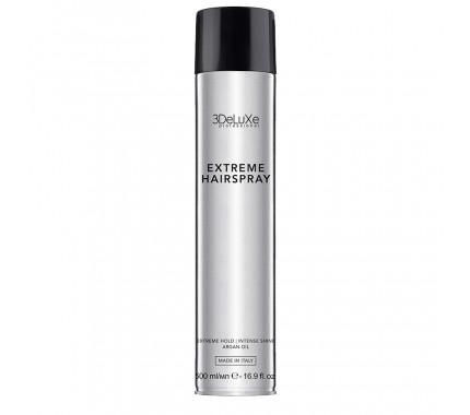 Лак для волос экстрасильной фиксации 3DeluXe Professional Extreme Hairspray, 500 мл