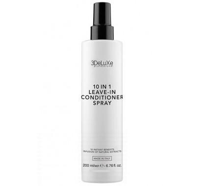 Многофункциональный спрей-кондиционер 10 в 1 3DeluXe Professional 10 in 1 Leave-In Conditioner Spray, 200 мл