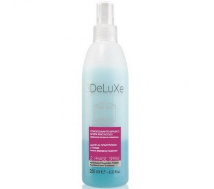 Спрей-кондиционер двухфазный для всех типов 3DeLuxe Professional 2 Phase Spray, 250 мл.
