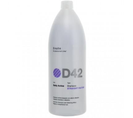 Шампунь для выравнивания волос Erayba D42 Straight Factor Shampoo, 1500 мл