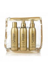 Набор продуктов с маслом льна в косметичке Kleral System Semi Di Lino Kit