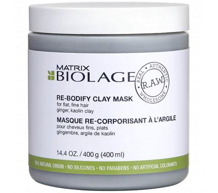 Маска для волос Matrix Biolage RAW Re-Bodify Clay Mask, 400 мл