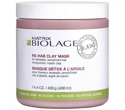 Маска для волос Matrix Biolage RAW Re-Hab Clay Mask, 400 мл