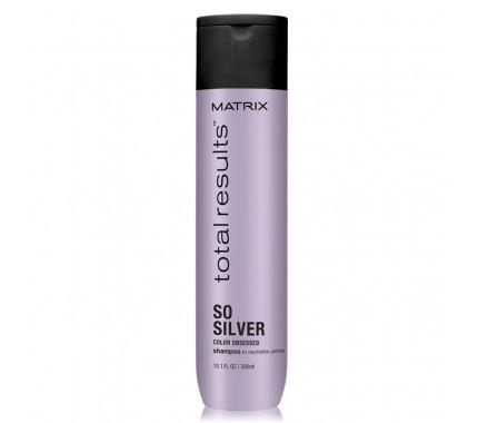 Шампунь для светлых и седых волос Matrix Total Results Color Obsessed So Silver, 300 мл