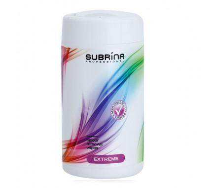Subrina Очищающие салфетки Extreme для удаления краски с кожи, 100 шт