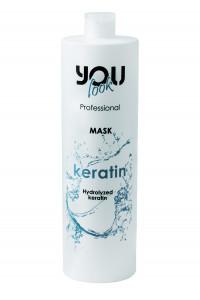 Бальзам-маска с кератином для тонких и ломких волос - восстановление You Look Professional Keratin Mask 1000 мл.