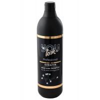 Шампунь с кератином для сухих и поврежденных волос You Look Professional Keratin Deep Care For Dry And Damage Hair Shampoo, 1000 мл.