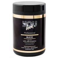 Маска для волос с молочными протеинами You Look Professional Milk Proteins Mask 1000 мл.
