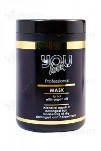 Маска для волос с аргановым маслом You Look Professional Argan Oil Mask 1000 мл.