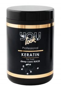 Маска для волос с кератином You Look Professional Keratin Deep Care Mask 1000 мл.
