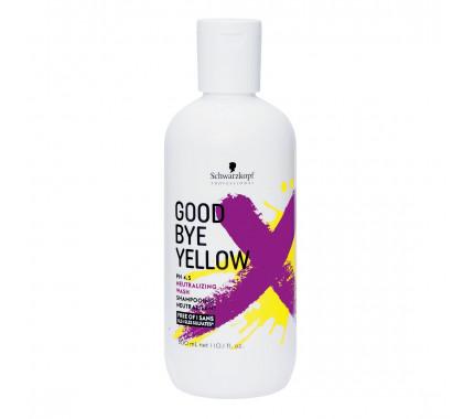 Безсульфатний шампунь с антижелтым эффектом Schwarzkopf Professional Goodbye Yellow Shampoo, 300 мл., 1000 мл