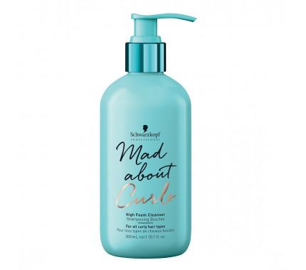 Безсульфатный шампунь для кучерявых волос Schwarzkopf Professional Mad About Curls High Foam Cleanser Shampoo, 300 мл., 1000 мл