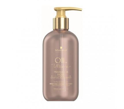 Шампунь для тонких и нормальных волос с маслом марулы и розы Schwarzkopf Professional Oil Ultime Light Oil-In-Shampoo, 300 мл., 1000 мл