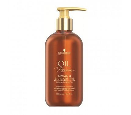 Шампунь для волос с маслом арганы и берберийской фиги Schwarzkopf Professional Oil Ultime Oil In Shampoo, 300 мл., 1000 мл