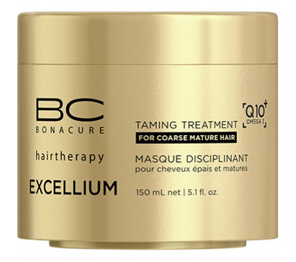 Смягчающая маска Schwarzkopf Professional BC Bonacure Excellium Q10 Omega 3 Taming Treatment, 150 мл