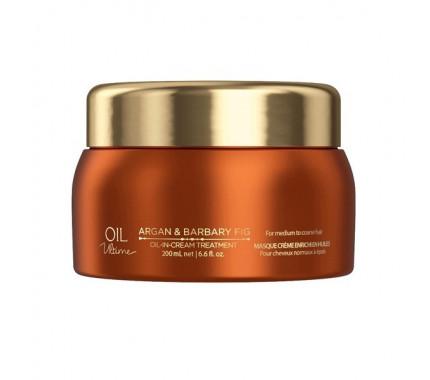 Маска для нормальных и жёстких волос с маслом арганы и берберийской фиги Schwarzkopf Professional Oil Ultime Oil In Cream Treatment, 200 мл., 500 мл