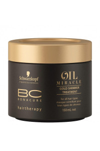 Золотая маска-блеск для волос Schwarzkopf Professional ВС Bonacure Oil Miracle Gold Shimmer Treatment, 150 мл., 750 мл