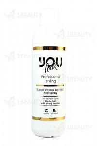 Жидкий лак для волос суперсильной фиксации You Look Professional Super Strong Bottled Hairspray 1000 мл.