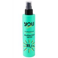 Спрей-уход (мультиспрей) для волос мгновенного действия 10 в 1 You Look Professional Multiaction 10 in 1 Hairspray 200 мл